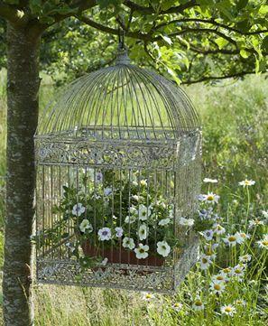 cage-decorative-fleurie-pot-fleur-suspendu