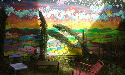 street art cour jardin
