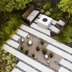 Type de jardin: le jardin minimaliste moderne