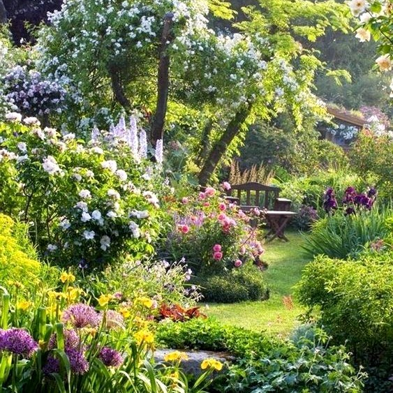 Jardin à l\'anglaise ou jardin anglais - type de jardin | La ...