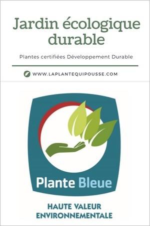 4 marques de plantes pour un jardinage durable: Plante Bleue = production française certifiée selon les principes du développement durable