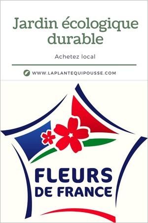 Jardin durable: 1 marque: Fleurs de France pour des plantes et fleurs locales engagées dans une démarche de qualité.