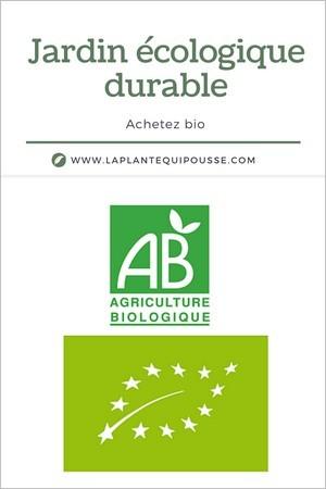 Jardin écologique: 4 marques et labels à découvrir pour des plantes du jardin. Ici plantes agriculture biologique pour potager, verger et aromatiques bio.