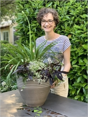 DIY Composer une jardinière d'été plein soleil: idée de composition avec une agapanthe